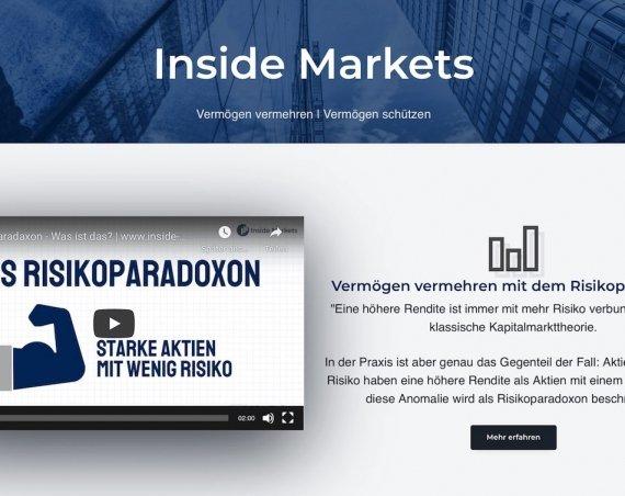 Risiko von Aktien und ETFs minimieren - Risikoparadox bei Inside Markets